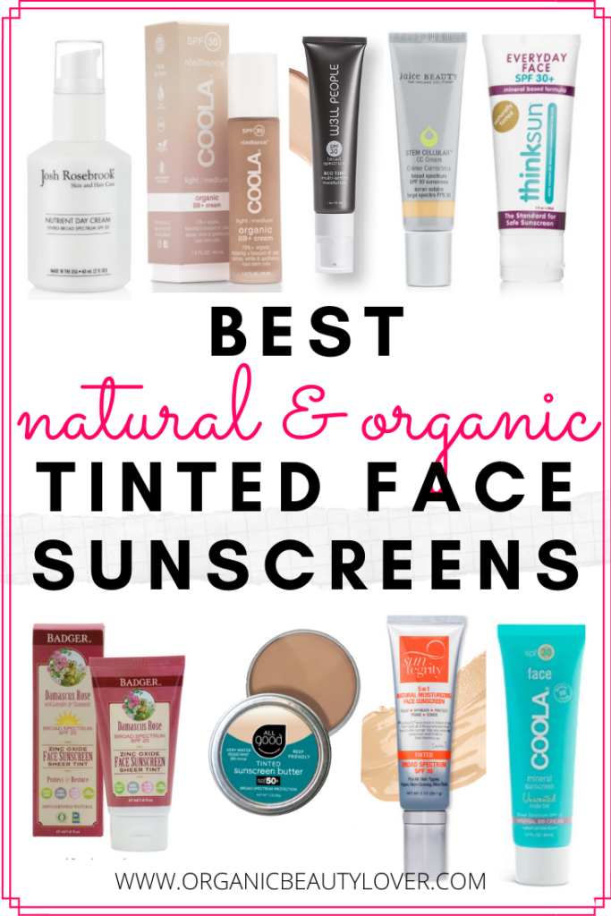 BEST NATURAL ORGANIC TINTED FACE SUNSCREENS SPF VEGAN NONTOXIC