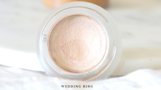 venus organics highlighter swatches wedding ring