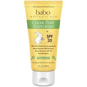 Babo botanicals clear zinc sunscreen