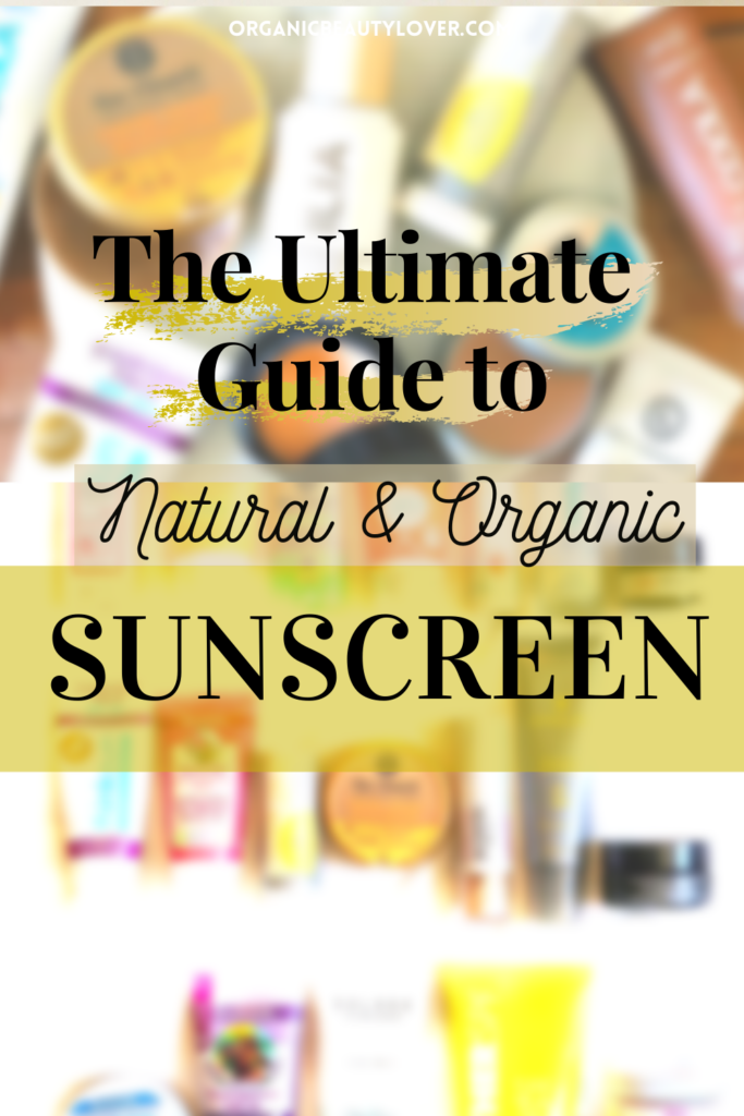 Organic sunscreen shopping guide