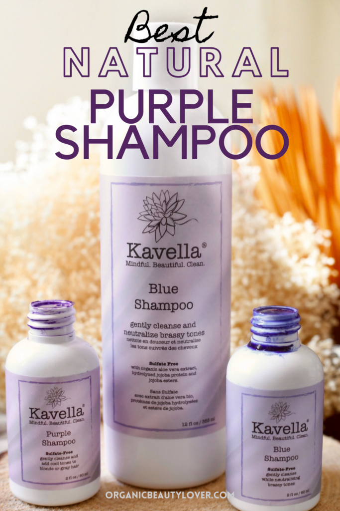 Natural purple shampoo